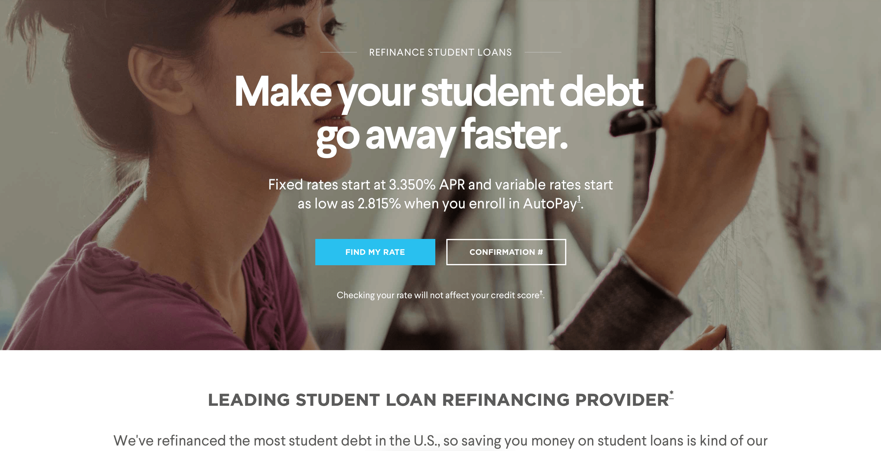 This image is used to help showcase the lender Sofi.