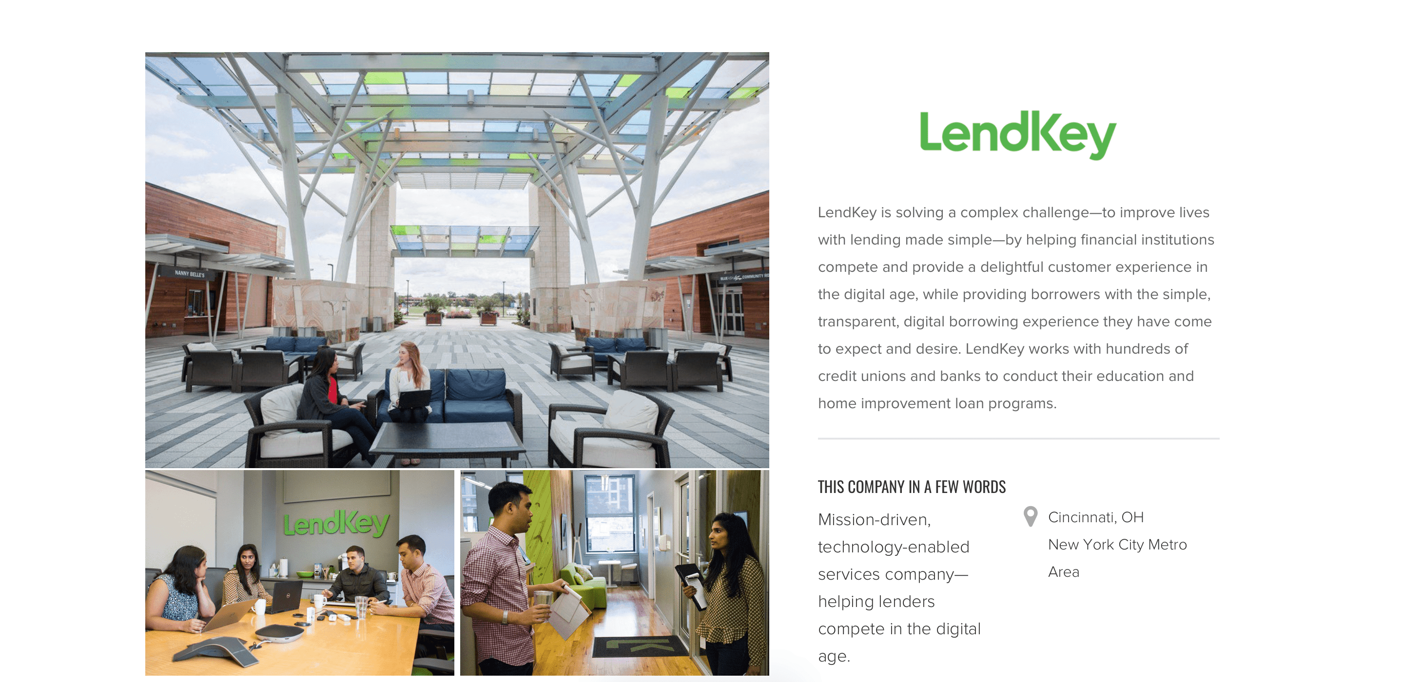 This image is used to help give users a better idea about the values and offerings of LendKey Private.