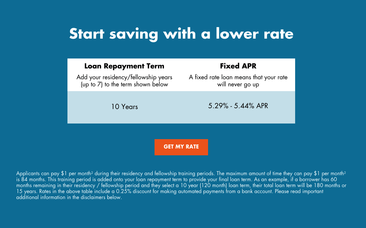 This image helps to show the rates for the lender Splash Financial.